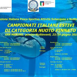 Campionati Italiani Estivi Di Nuoto Pinnato 23/24 Giugno 2018