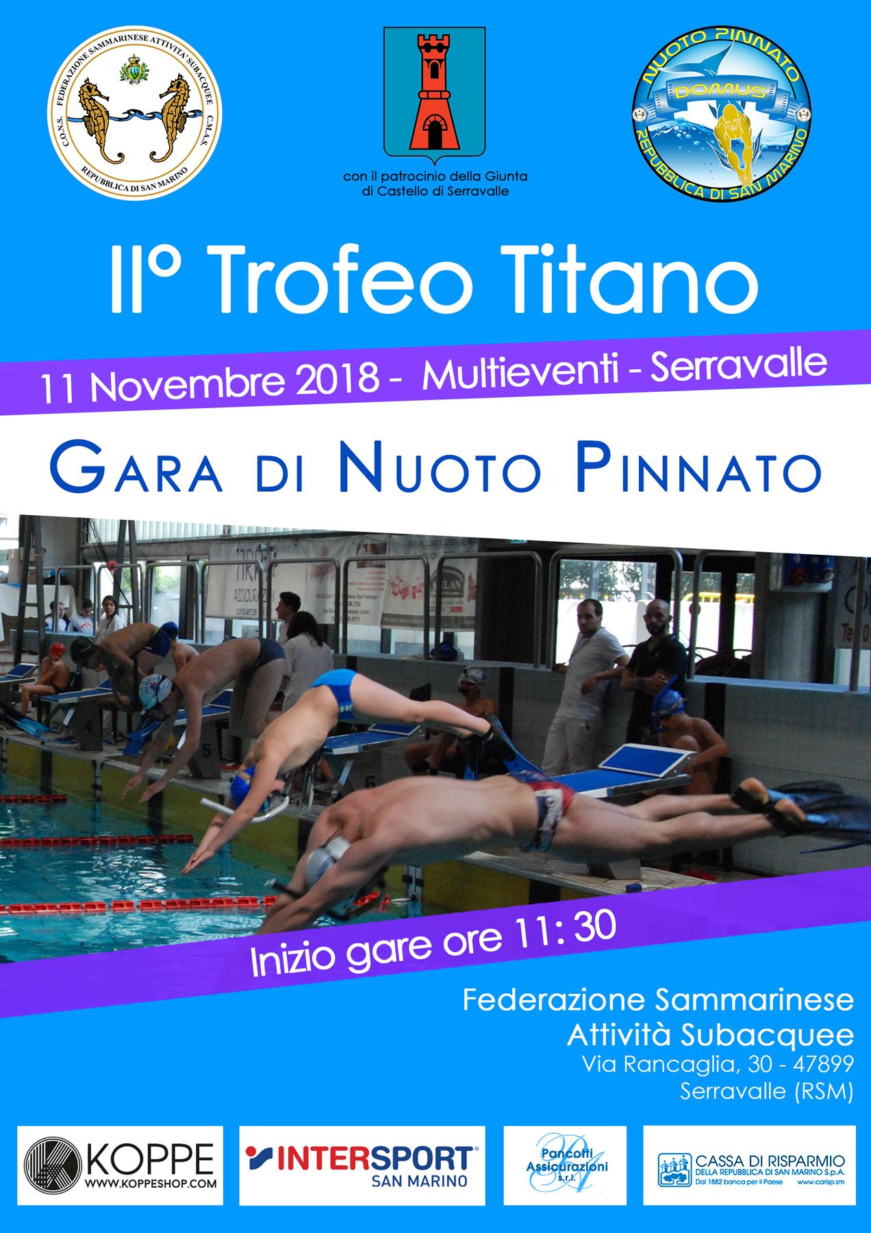 Volantino Gara Nuoto Pinnato 2018 1